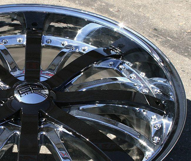 Giovanna Gello 24 Chrome Rims Wheels Gmc Envoy 6x127 Chrome Rims Gmc Envoy Wheel