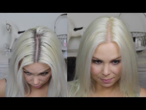 How To Platinum Blonde Regrowth At Home Colour Routine Youtube