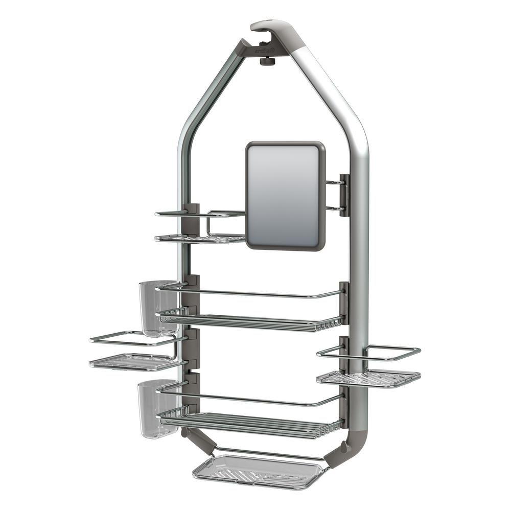 Artika Adjustable Over-The-Shower Head/Door Caddy with Mirror in ...