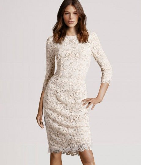 Off White Lace Dress From H M S Conscious Collection I Just Bought This For My Engagement Party