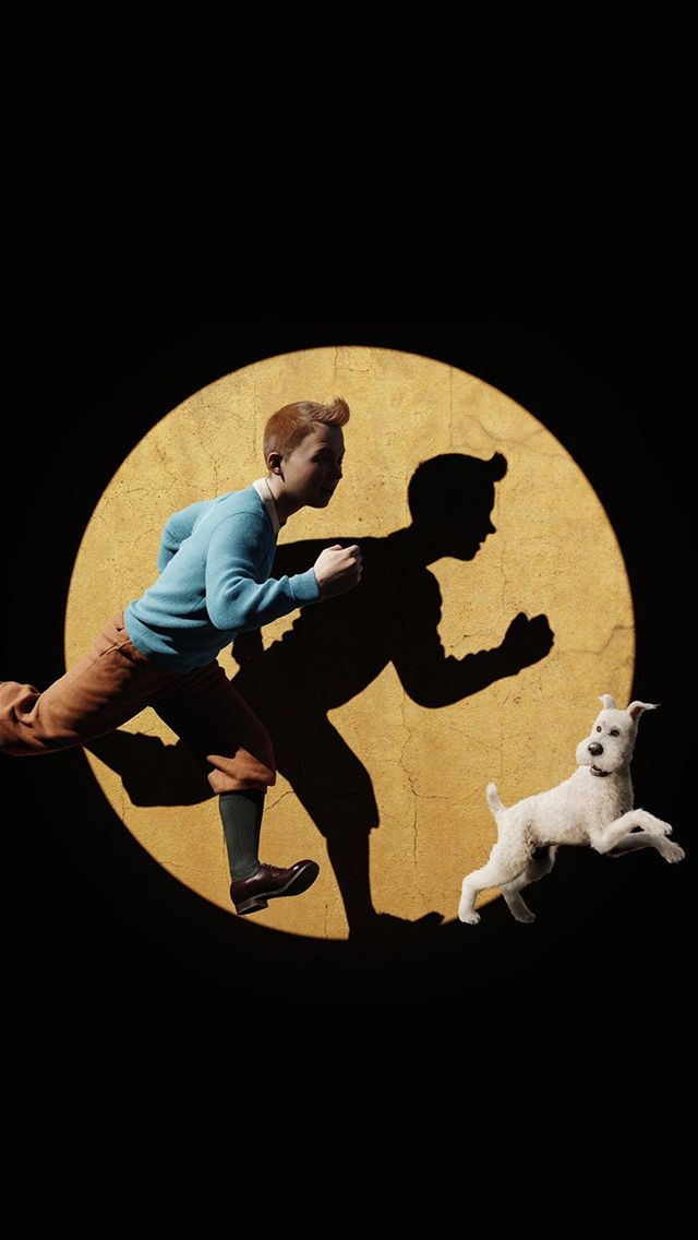 Tintin 3D Art Dark Illustration IPhone 5s Wallpaper