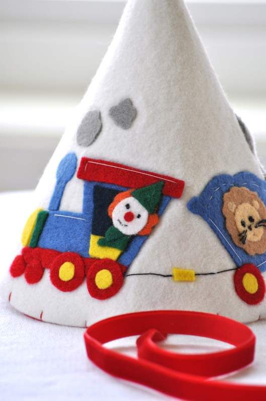 Circus Train felt hat by Stell and Livi
