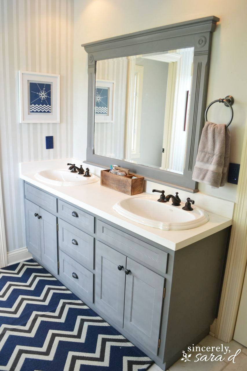 Painted Bathroom Cabinets My Boys Bathroom Transformation Renu Challenge Painting