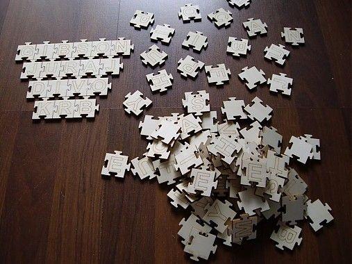 dekor-drevo / Puzzle - Abeceda 108 ks