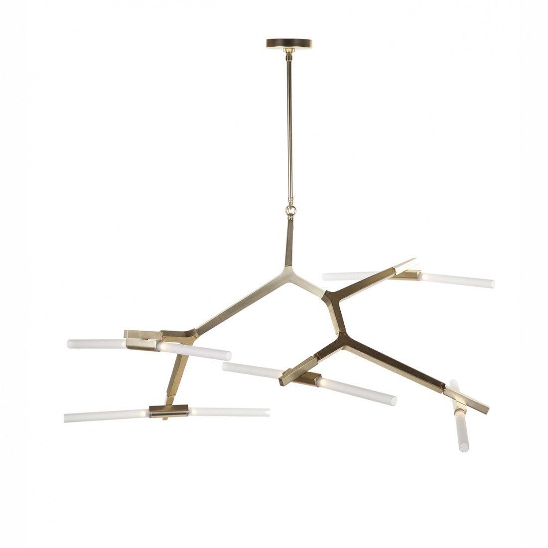 Anges Chandelier - Ten Bulb - Modern Branching Lamp | Bulbs ...