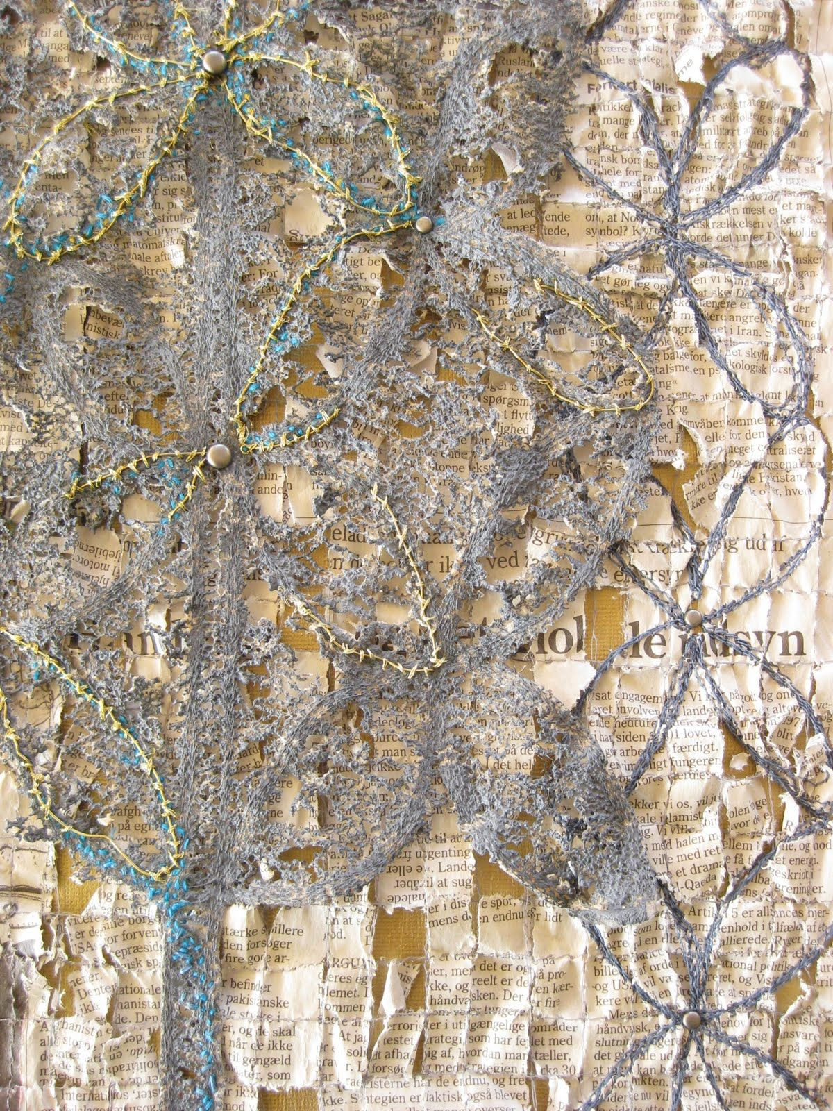 Gwen Hedley Stitches And Embellishment Art Textile