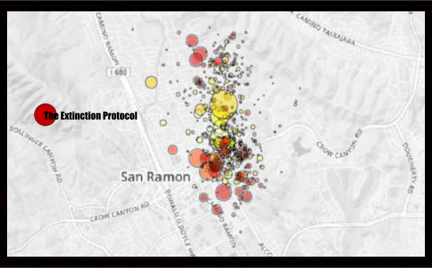 San Ramon Earthquake Map.Number Of Earthquakes In San Ramon Seismic Swarm Rises To Nearly 600