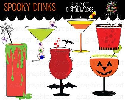 Halloween Clip art, printable Halloween digital clip art for