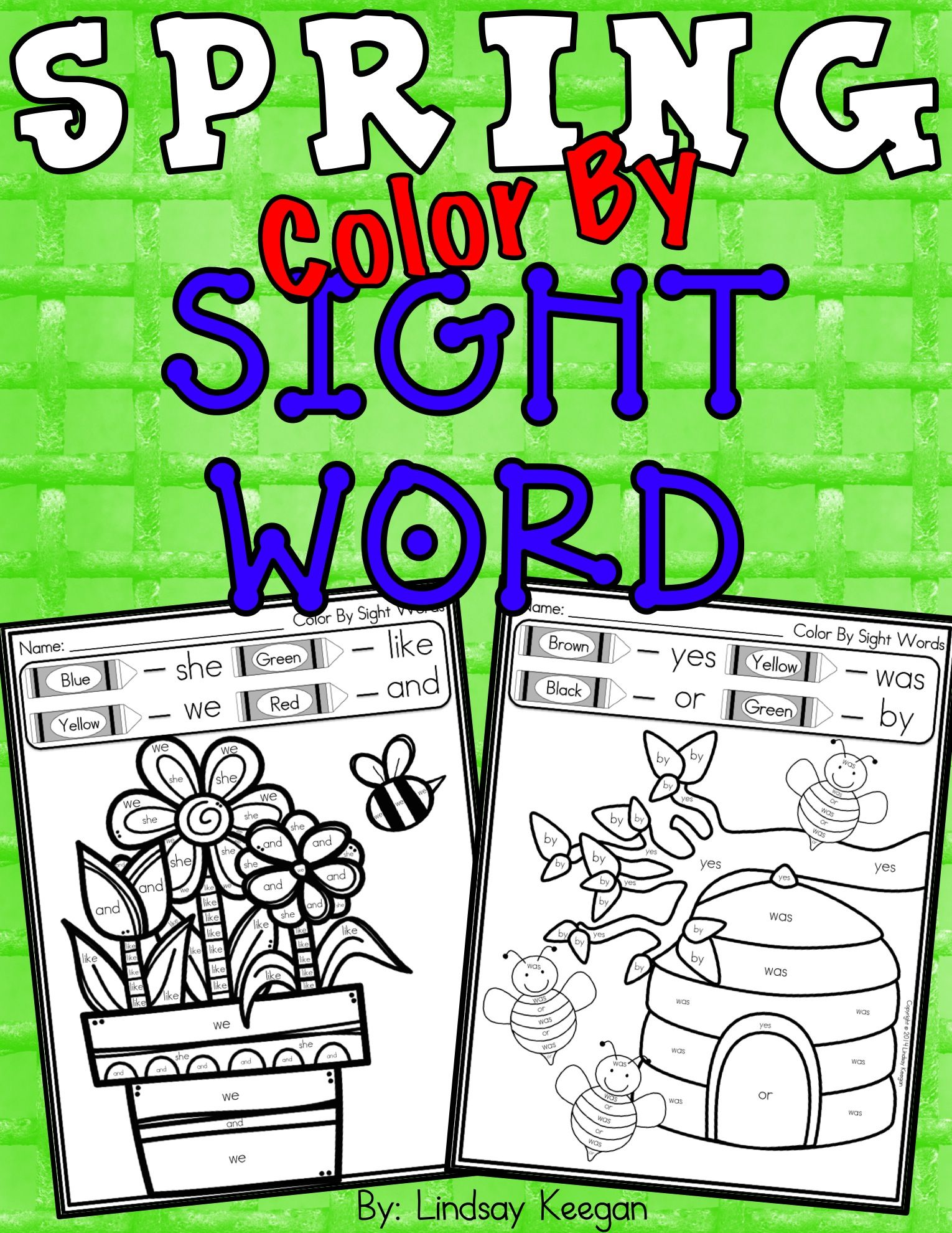 Color By Sight Word Spring Edition