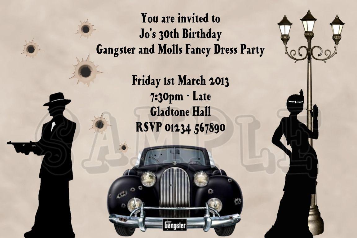50 birthday party gangster | Custom Printed Birthday Party ...