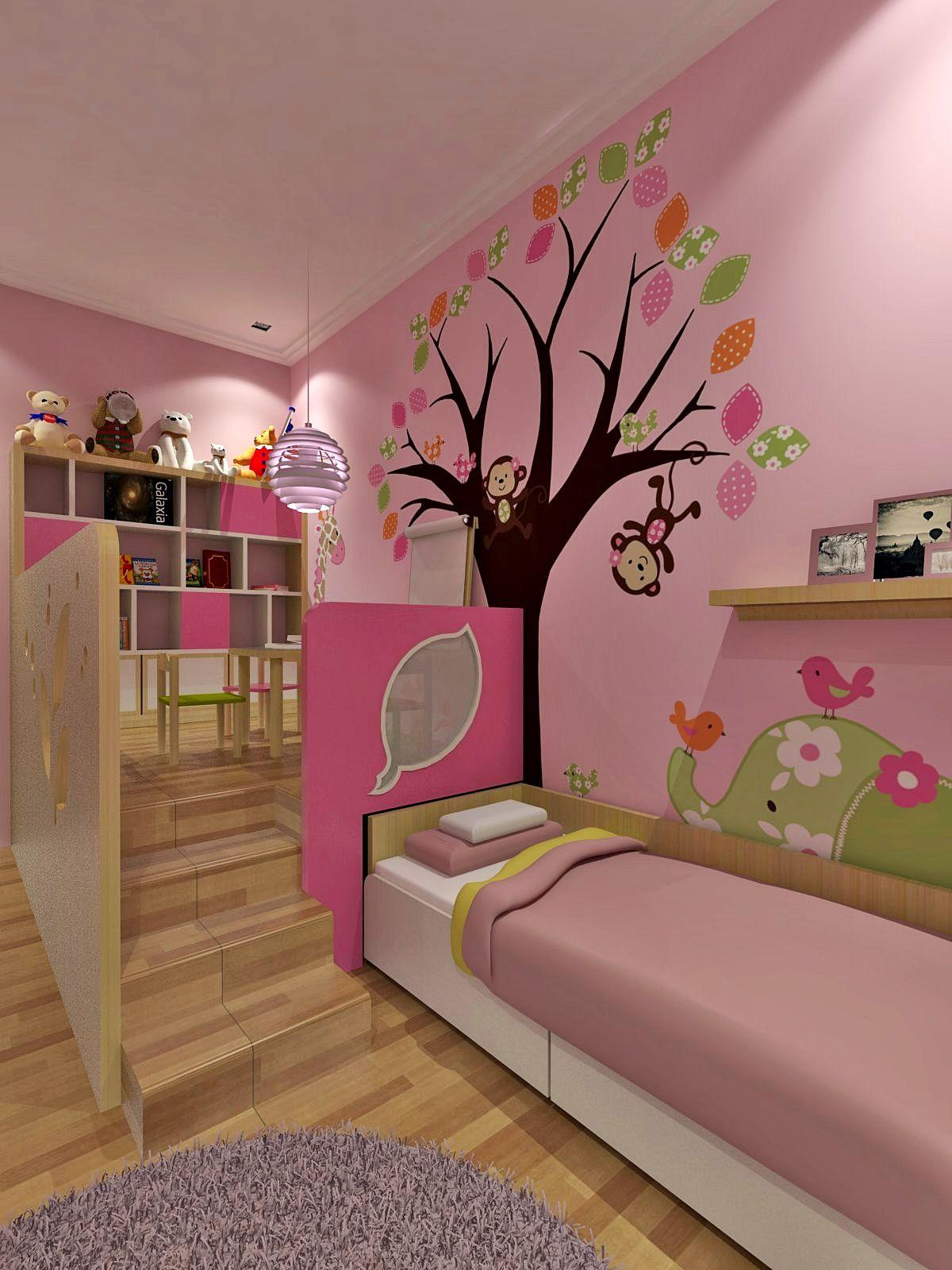 Interior design kamar tidur anak perempuang wall decor also rumah decoracion recamara cuarto nina rh ar pinterest