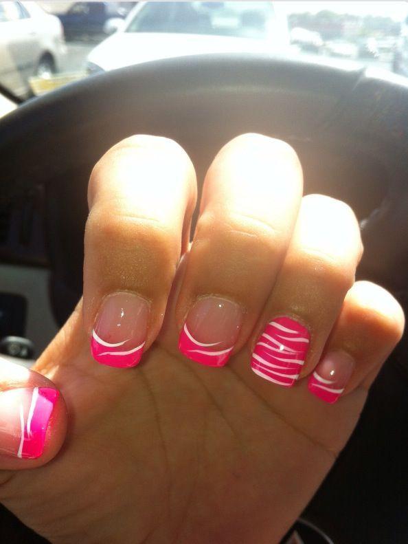 Image Via Zebra Nails Designs One Nail 2 Pinterest Zebra
