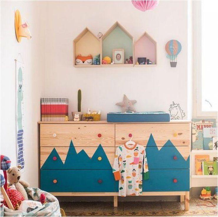 chambre enfant diy colore et pleine de rangement