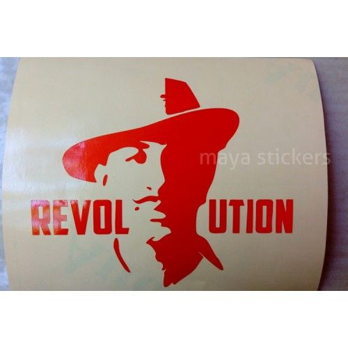 Stylish Bhagat Singh Stickers For Cars Bikes Laptop And Wall