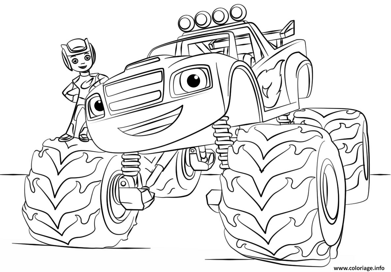 Coloriage Flash Macuine Gratuit.Coloriage Blaze Monster Truck A Imprimer Coloriage