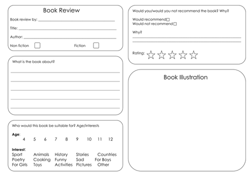 1000 ideas about Book Review Template Ks2 – Printable Book Review Template
