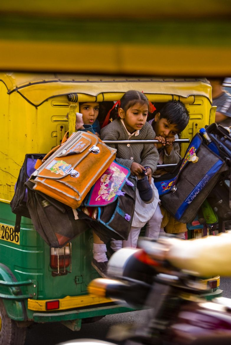 That S One Tightly Packed Tuk Tuk Kids And Their Bags Hanging Out