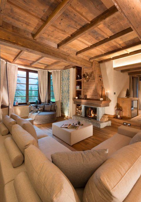 Accostare bianco e legno nel salone! 20 bellissimi esempi