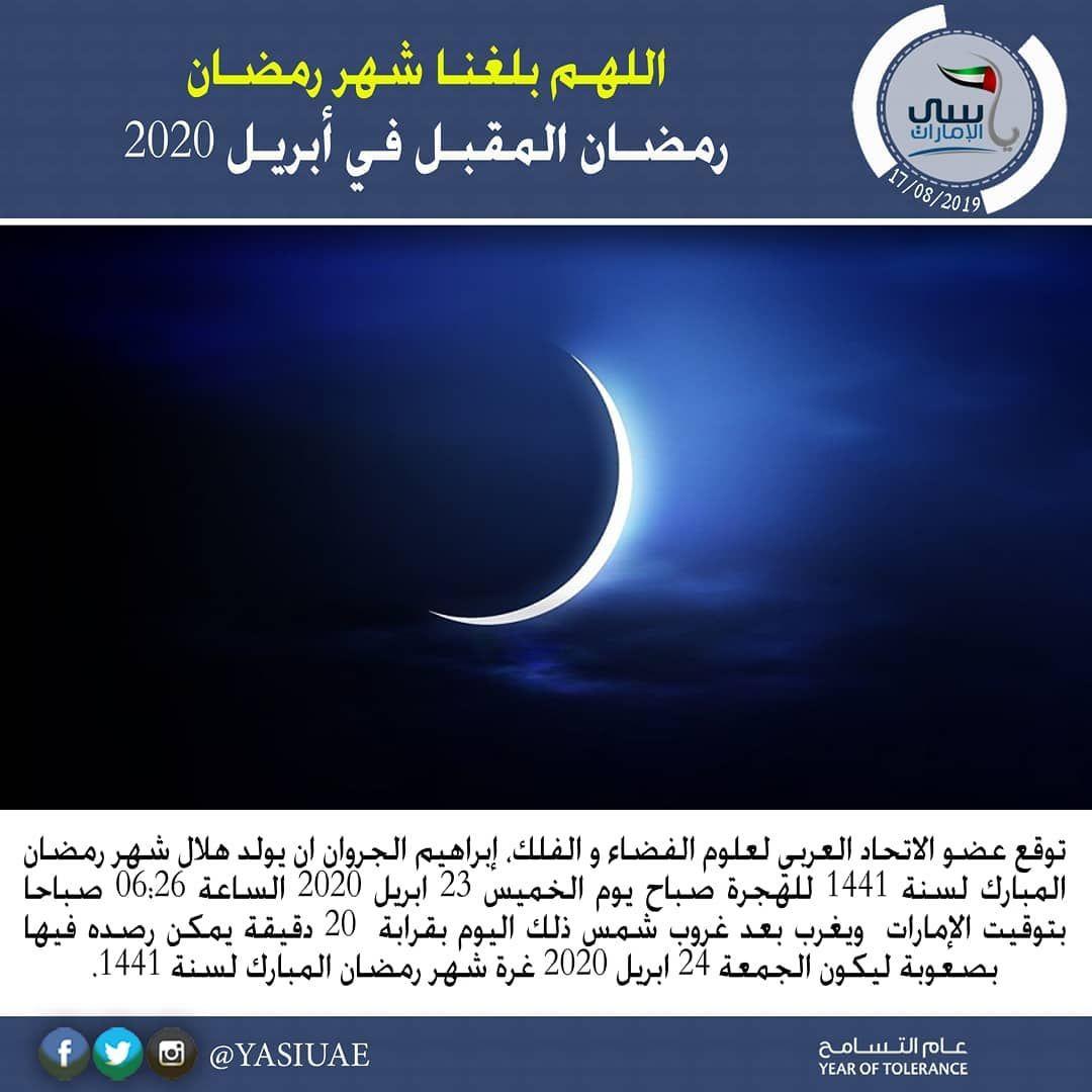 اخبار رمضان المقبل في أبريل 2020 توقع عضو الاتحاد العربي لعلوم الفضاء و الفلك إبراهيم الجروان ان يولد هلال شهر ر Lockscreen Pandora Screenshot Screenshots