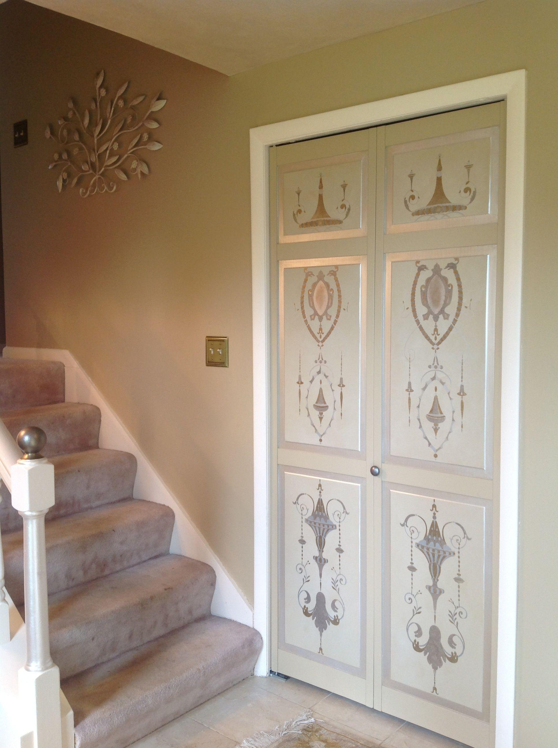 Ornamental Coat Closet Doors In A Foyer By Decorative Artist Heather Bruno Sears Home Decor Decor Furniture