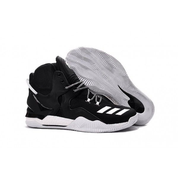 separation shoes 2b963 68e20 discount black white adidas d rose 7 basketball shoes for mens
