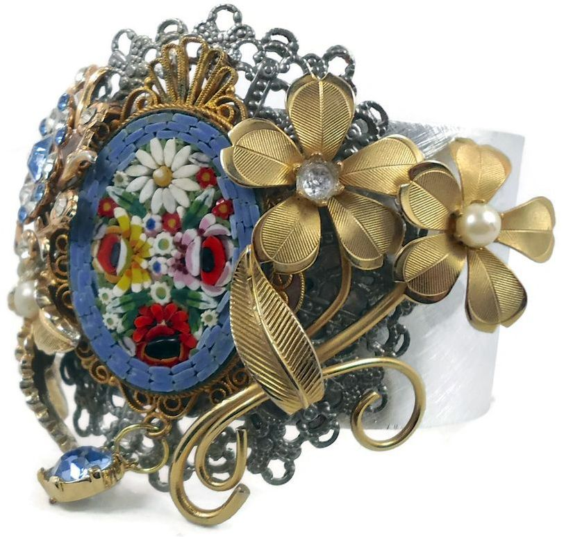 Micro Mosaique - Bracelet 'Bouquet'