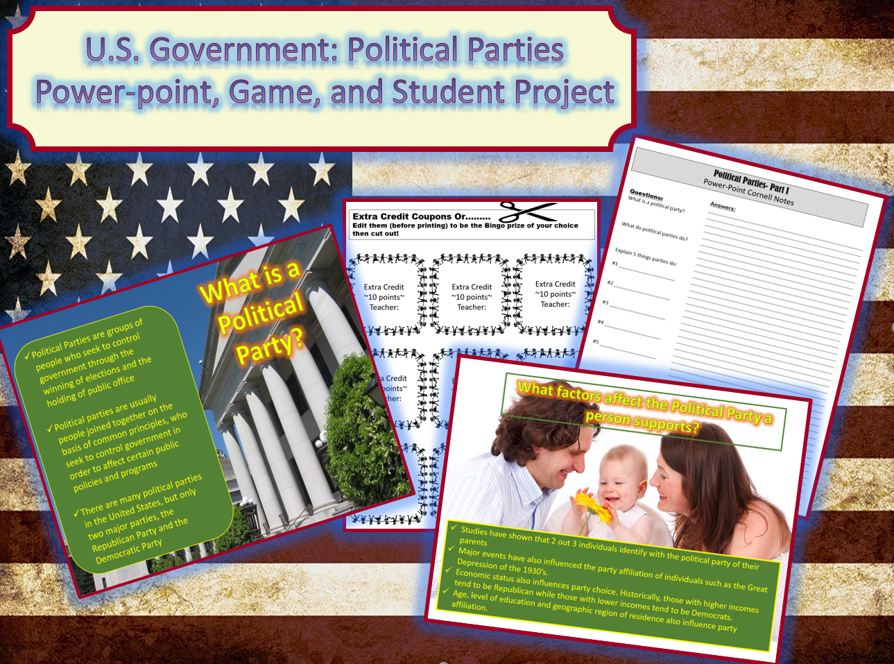 U S Government Political Parties Power Point Game And