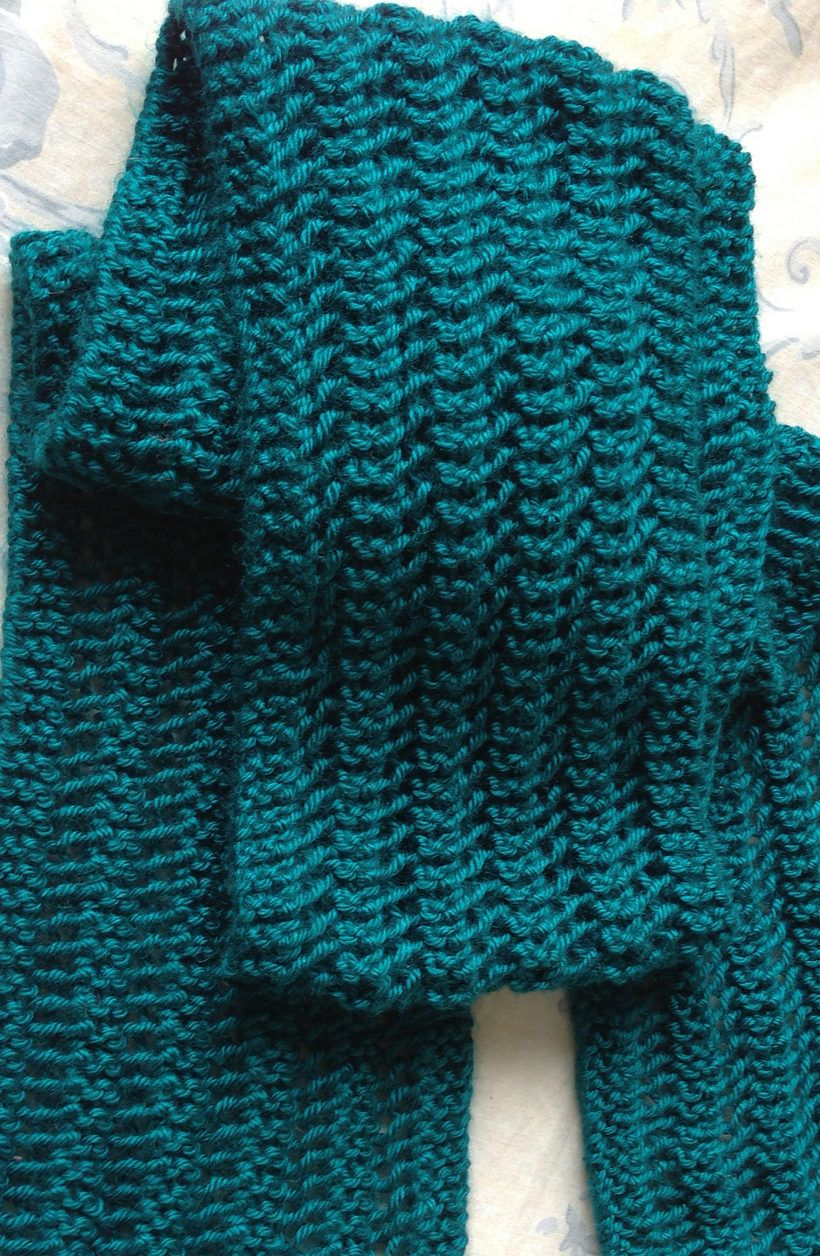 Knitting Pattern One Row Repeat Lace Scarf - Instructions for easy ...