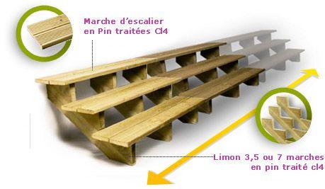 Escalier D'Exterieur En Bois, Vente Escalier Pour Terrasse, Piscine