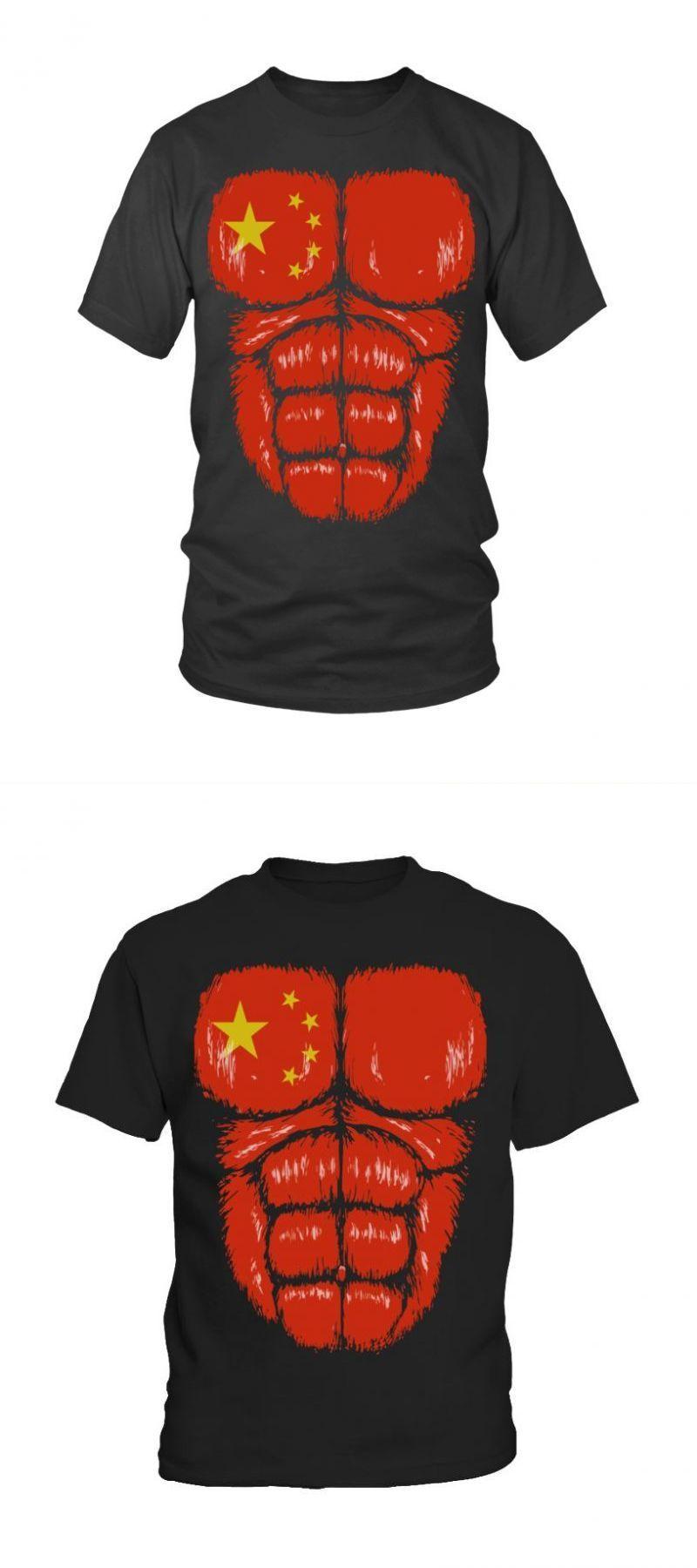 Baseball T Shirt Design Maker China Flag Hulk Muscles Baseball T