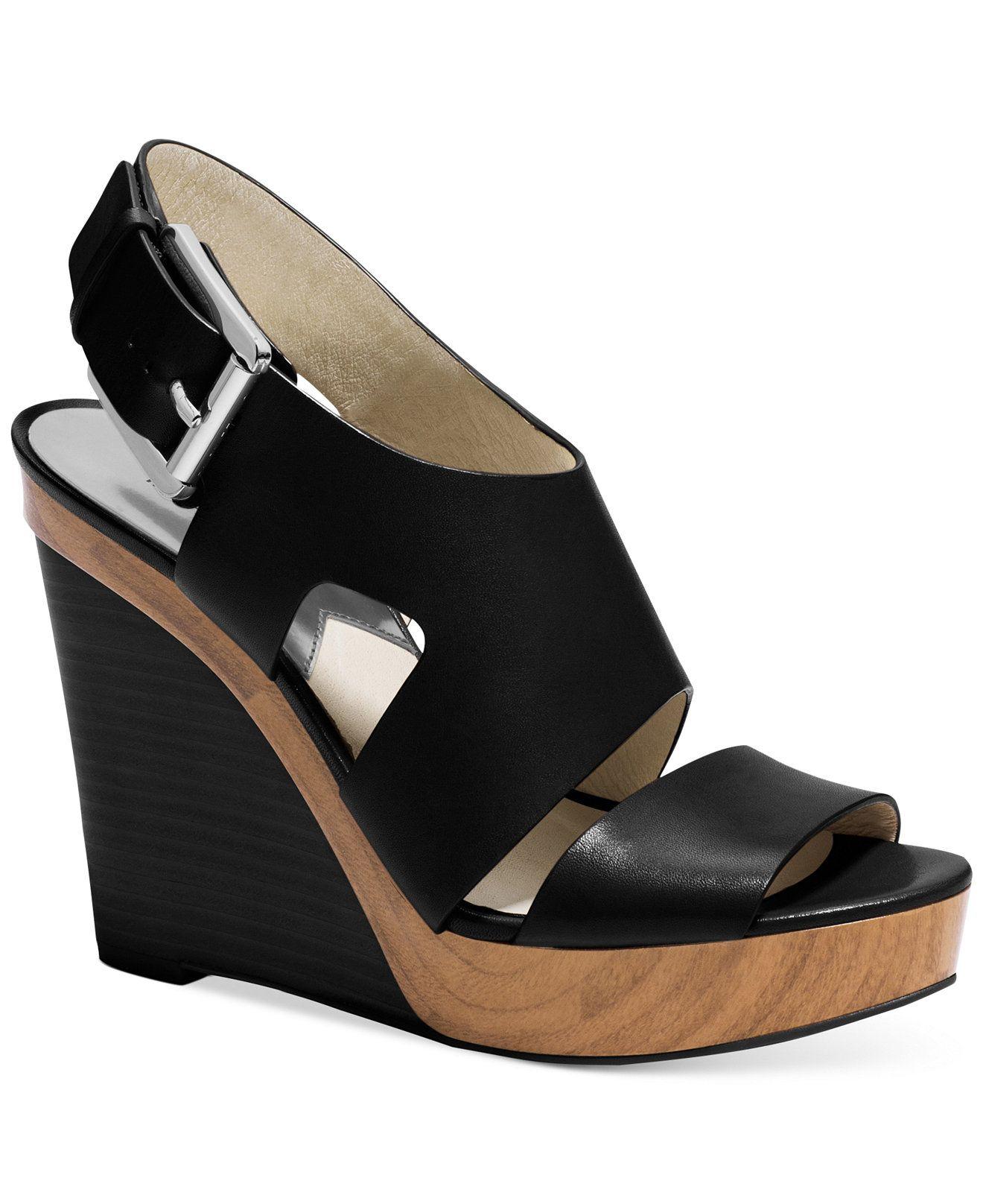 c661ee407084 MICHAEL Michael Kors Carla Platform Wedge Sandals - MICHAEL Michael Kors -  Shoes - Macy s