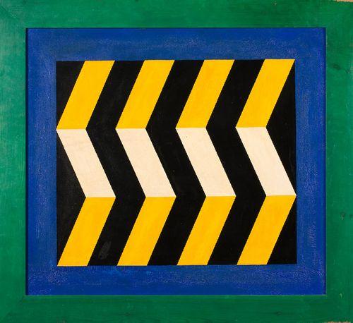 Marc Adrian - Sprungperspektive (2. Fassung) (1964) Öl auf Leinwand