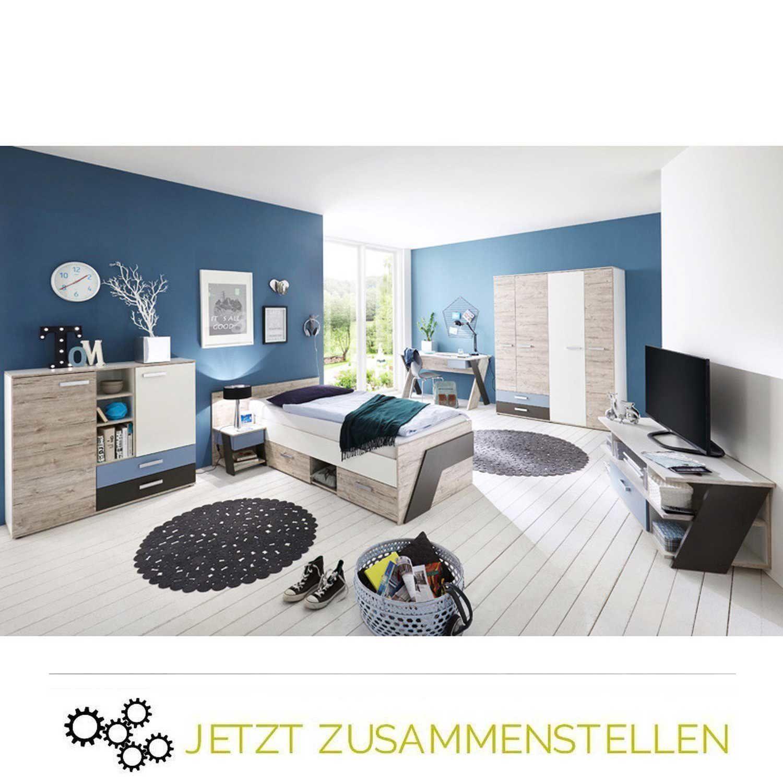 Jugendzimmer Set LEEDS10 in Sandeiche Nb. selbst