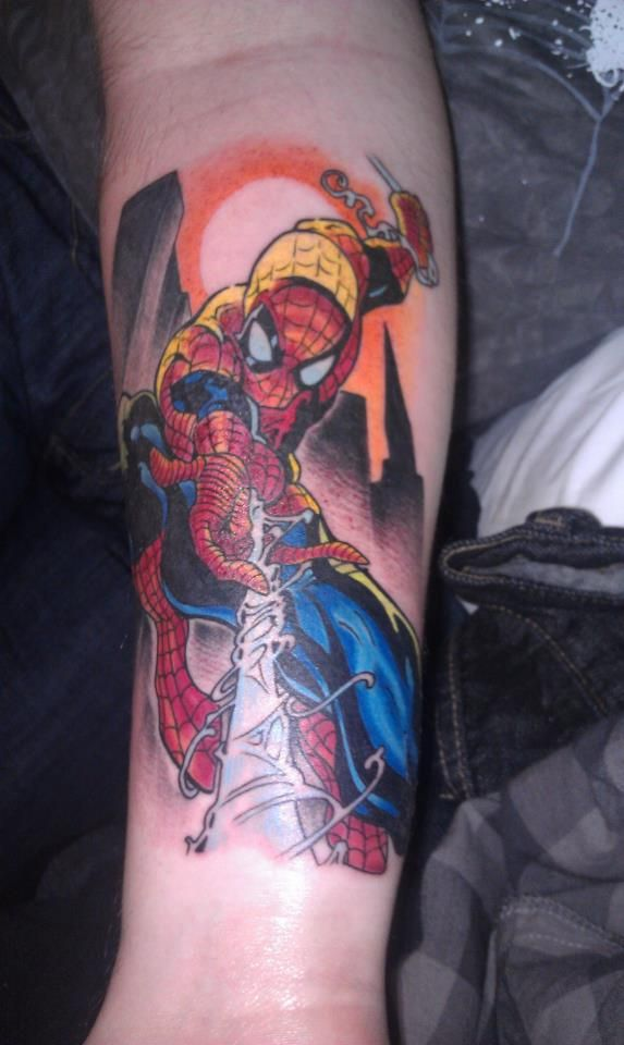 My boyfriend's Spiderman tattoo! | LOVE THIS | Spiderman ...