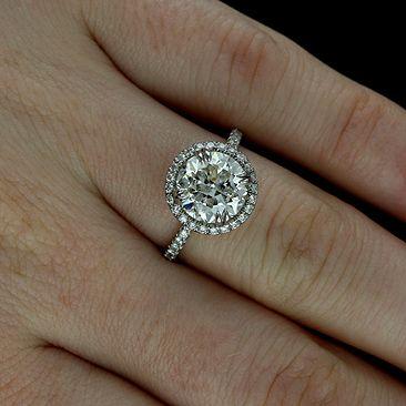 Diamond 14k Gold Halo Modern Engagement Ring Setting Mounting