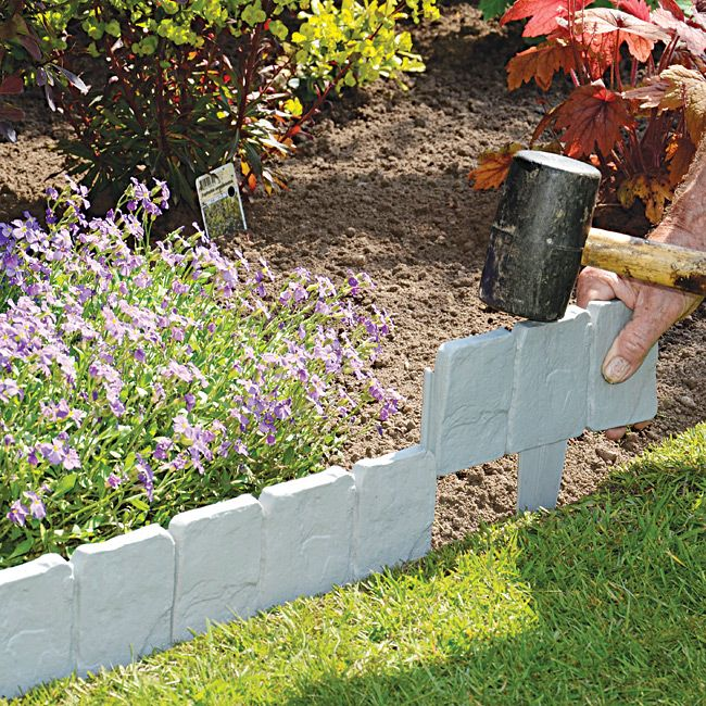 Stone Edger: Simply Tap In These Instant-fit Cobbled Stone-look Edgings
