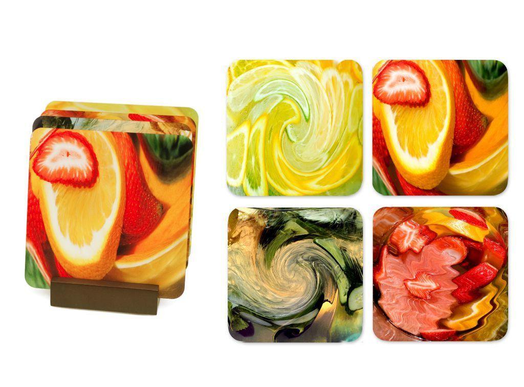 Art Coasters in Juicy - Set of 4