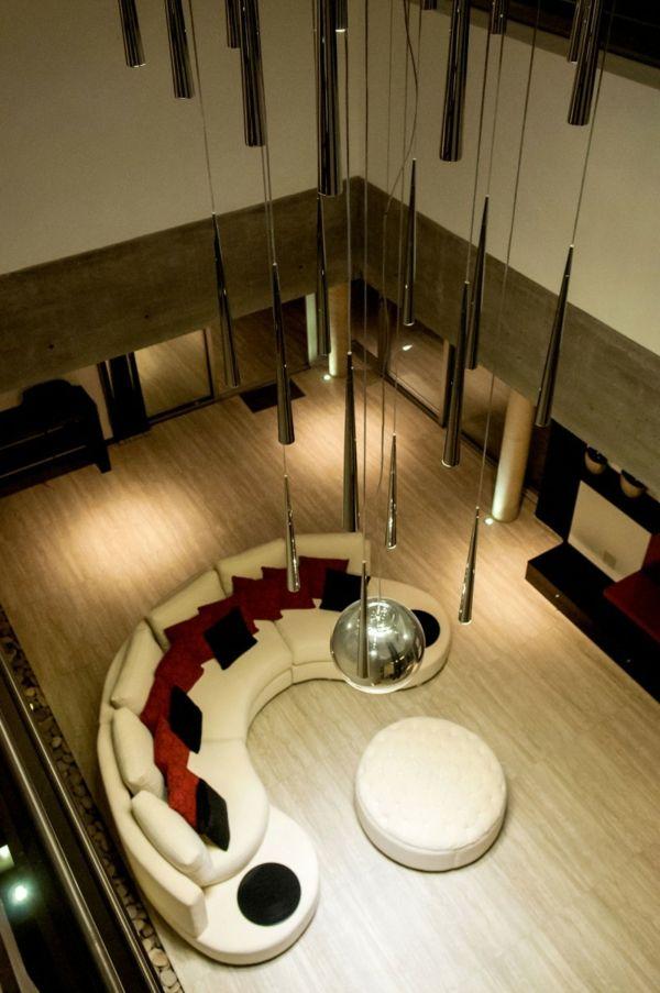 Wohnzimmer Sofa Set-kleiner Kaffeetisch-Hängeleuchten | Home ...