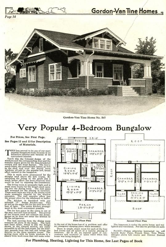 This classic Craftsman Style bungalow was a popular model for