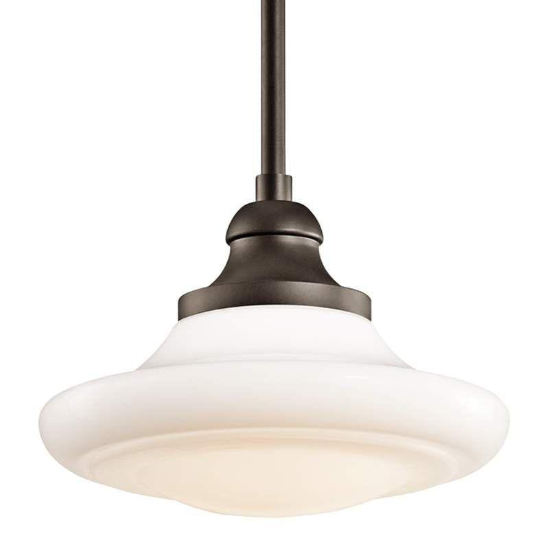 Kichler 42270 Keller Single Bulb Indoor Pendant With Schoolhouse