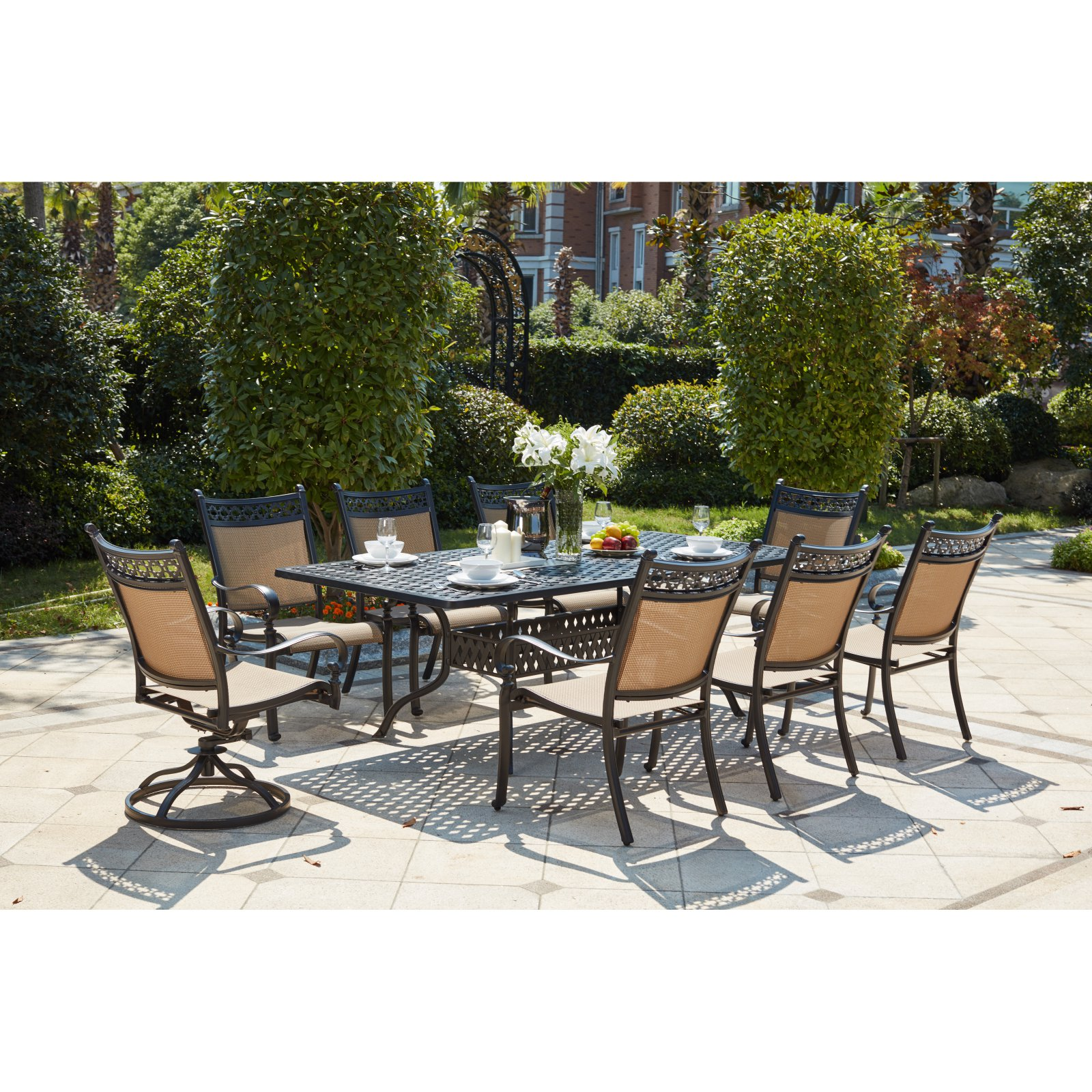 Outdoor Darlee Mountain View 9 Piece