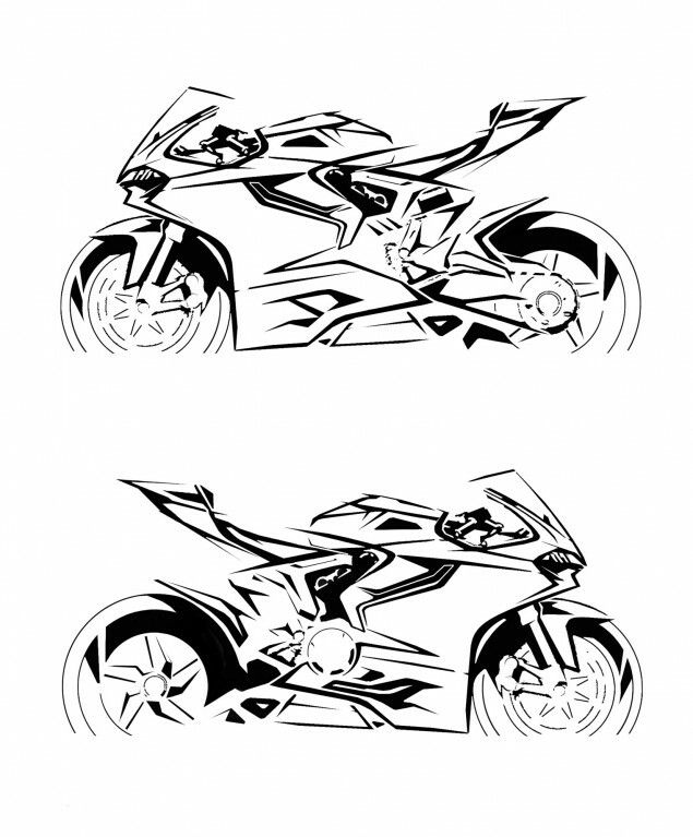 Panigale Sketch Car Sketch Pinterest Cars