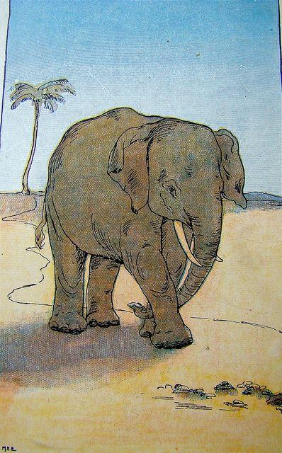 The animals went in one by one   From The Ark and Nonsense LInes, by Mary E. Eaton, published by George Allen, 1901porque não os elefanbtes são bichos do coração.