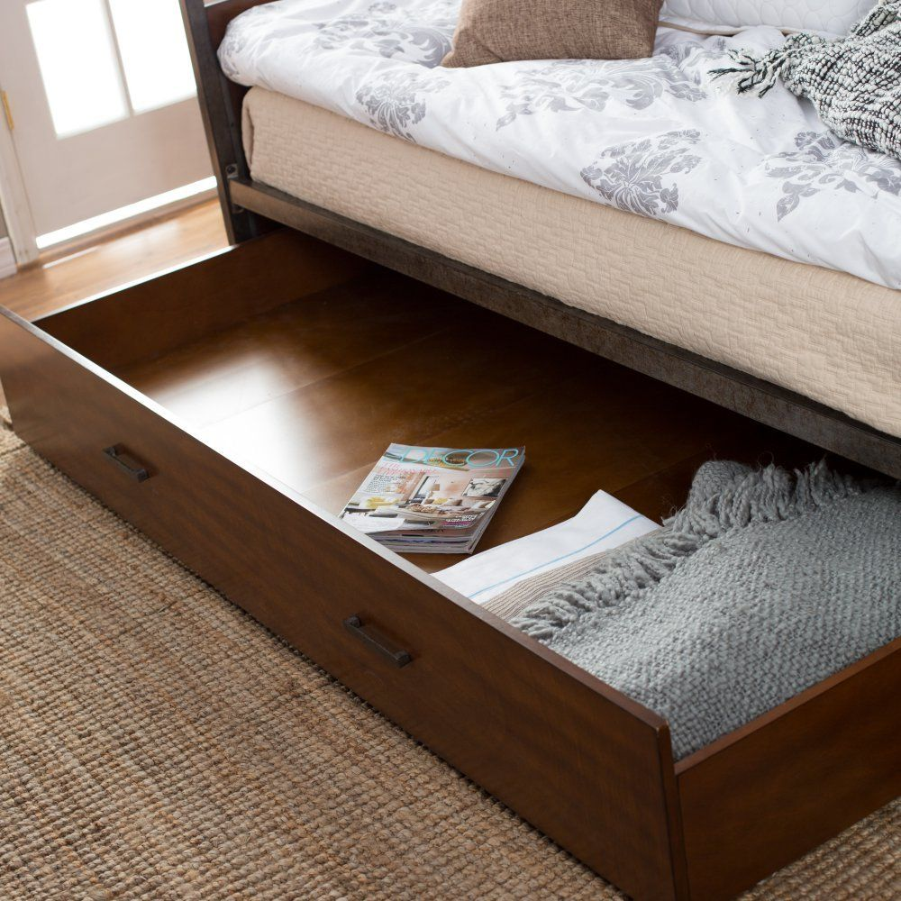 belham living decker daybed twin walnut daybeds at hayneedle daybedsroom