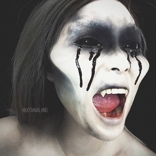 50 Scary Halloween Makeup Costume Ideas to Try Halloween makeup - scary halloween ideas
