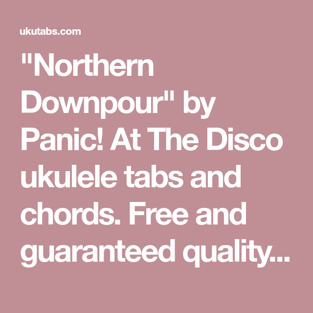 Northern Downpour\