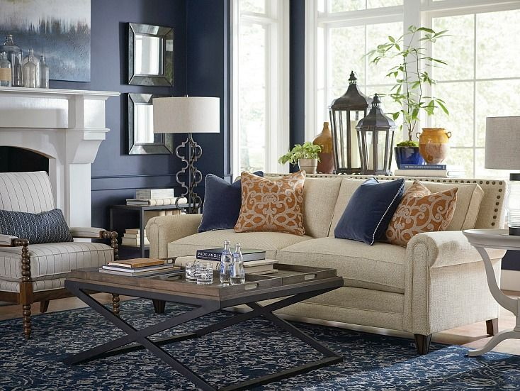 Moody Monday Transitional Blues And Grays Living Room