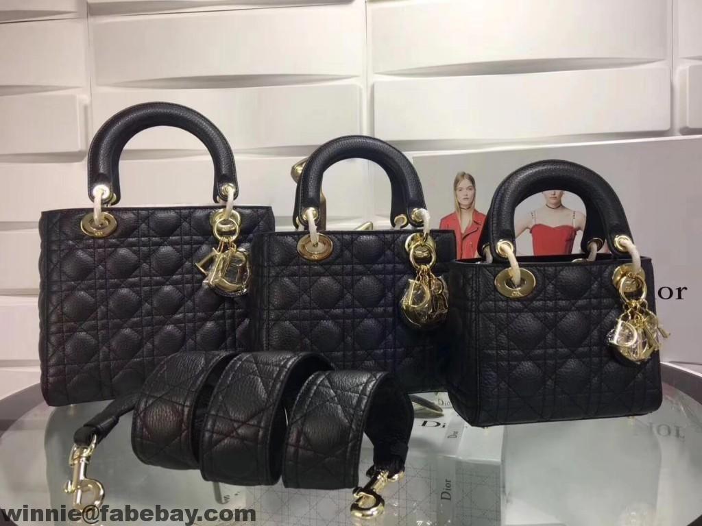 Dior Metallic Grained Calfskin Lady Dior Bag  8ee681be81cfc