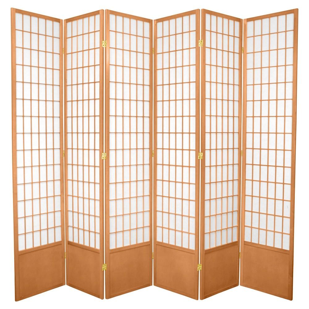 ft tall window pane shoji screen natural panels tall