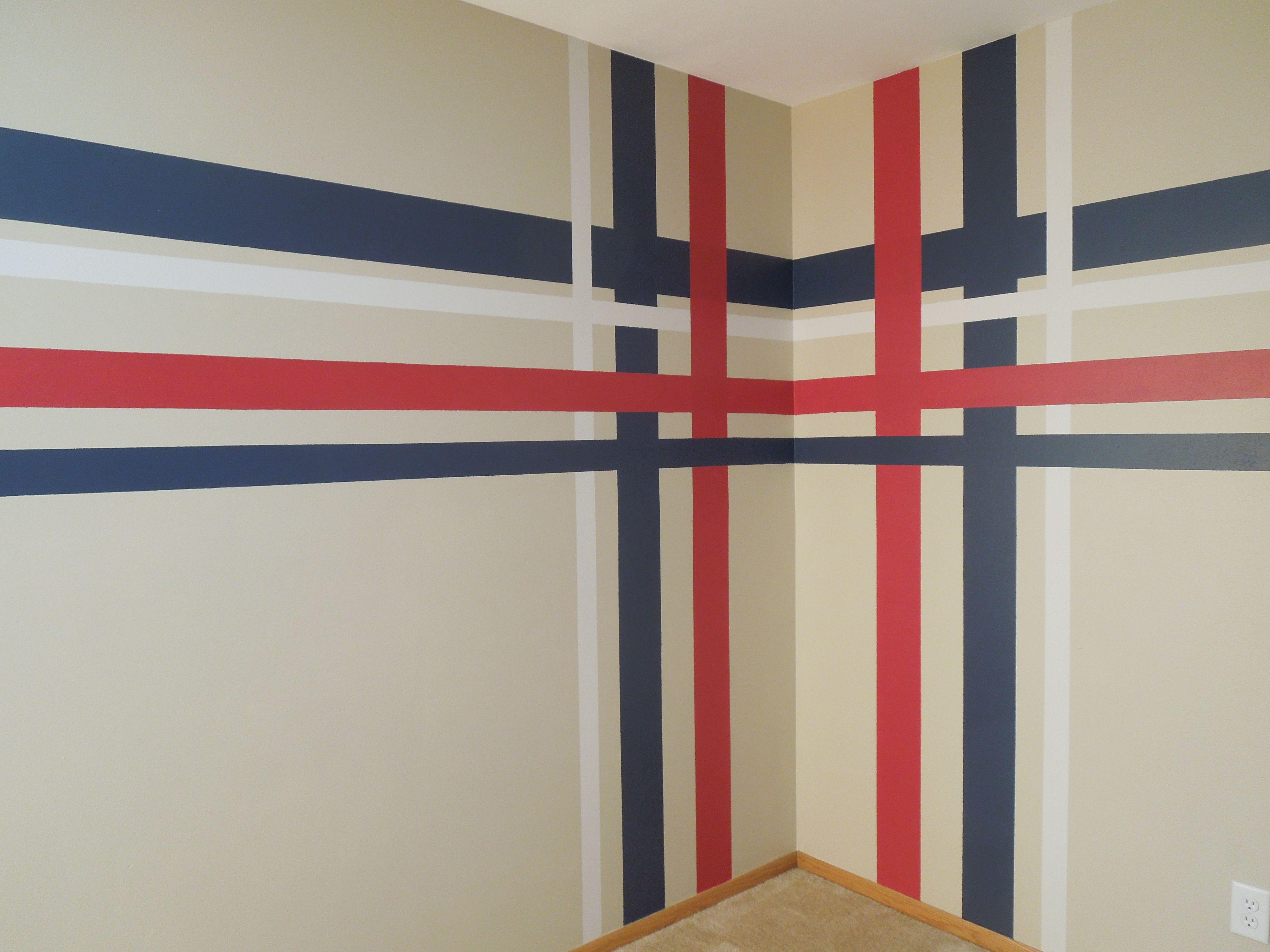 Striped Painted Wall Horizontal Stripe